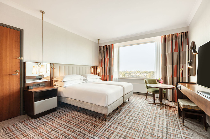 An accessible guest room at the Hilton Amsterdam